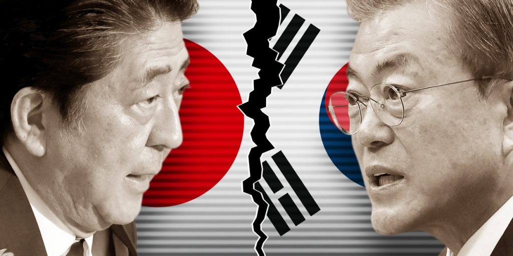 كل شيء عن الحرب التجارية بين كوريا الجنوبية واليابان