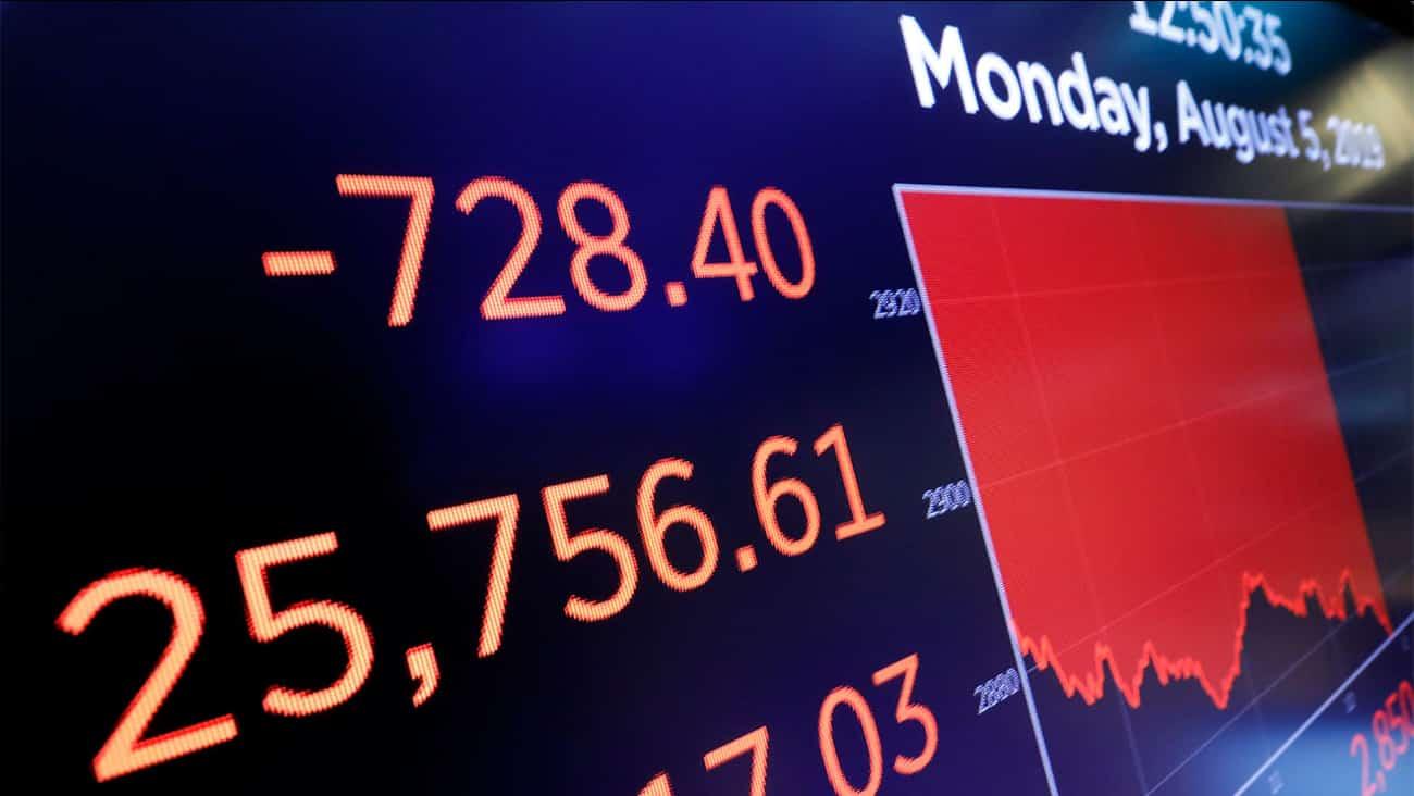 أسوأ يوم في 2019 انتقام الصين يعزز فوضى الأسهم خلال أغسطس