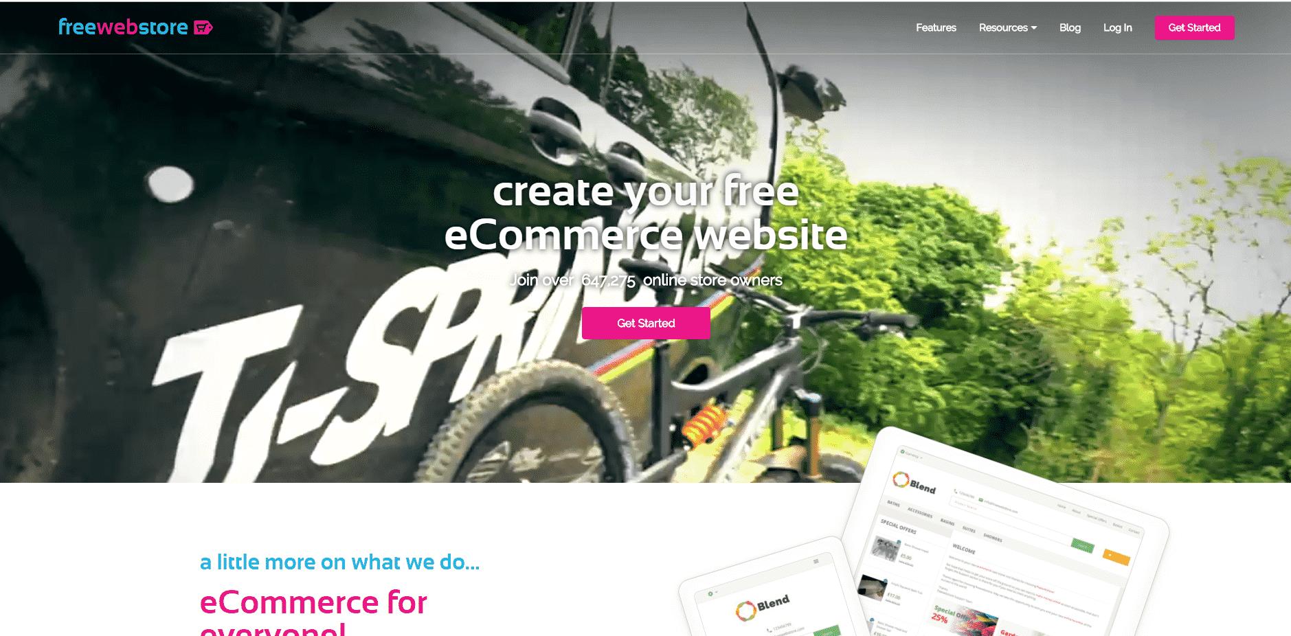 مراجعة Freewebstore إنشاء متجر إلكتروني مجانا بديل شوبيفاي