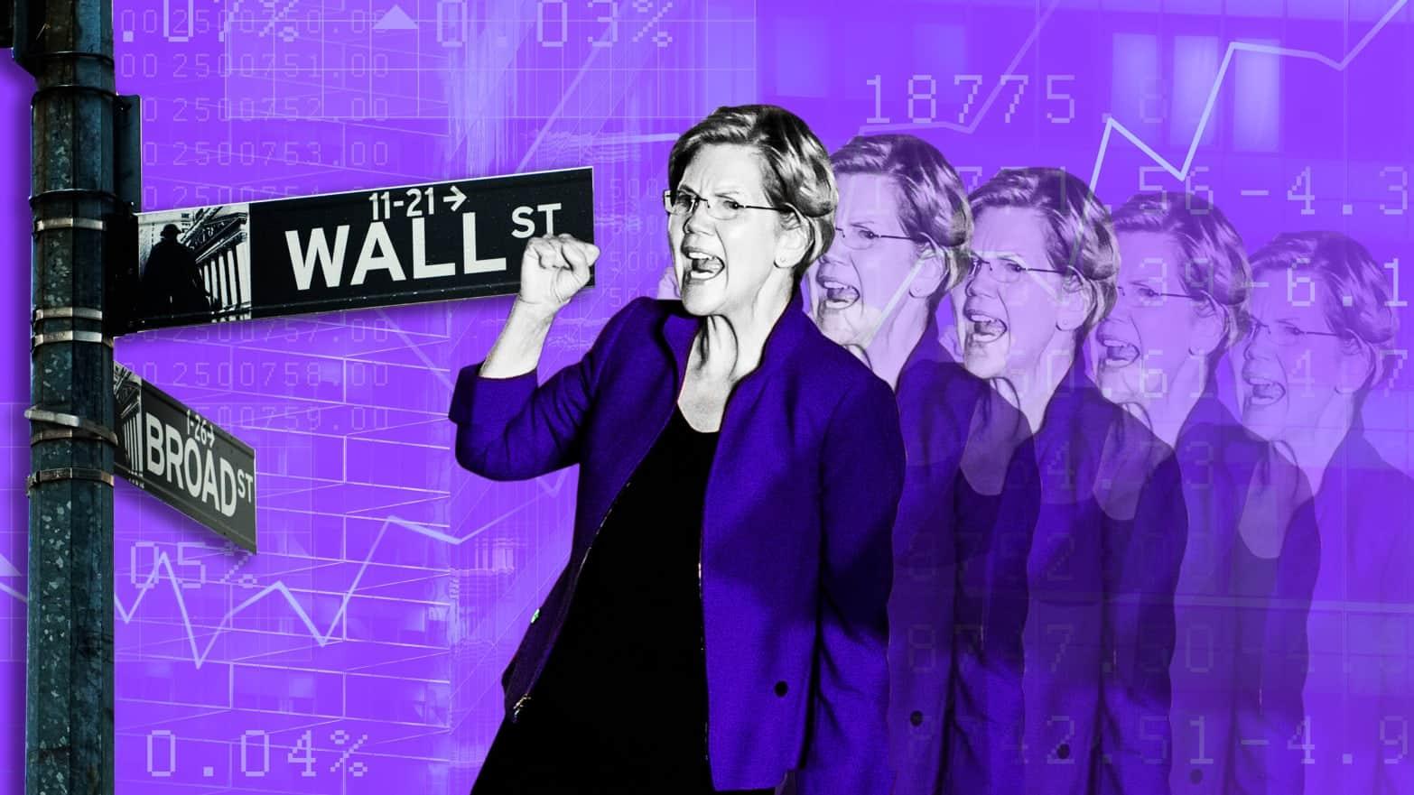 إليزابيث وارن كابوس البنوك والبورصة الأمريكية وشركات التكنولوجيا