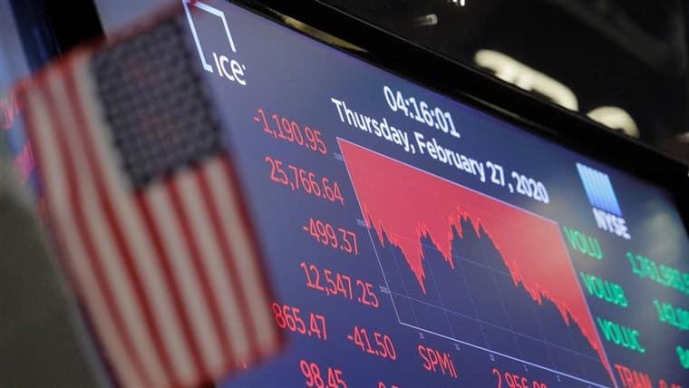 فبراير 2020 حرق 6000 مليار دولار من الأسهم العالمية في أسبوع