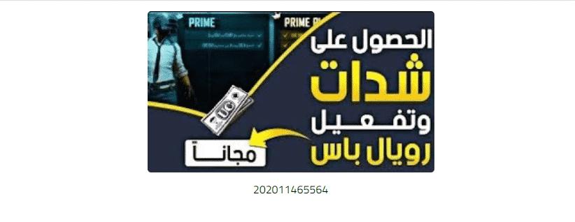 حقيقة كود 202011465564 لتوزيع شدات ببجي برعاية ابن سوريا