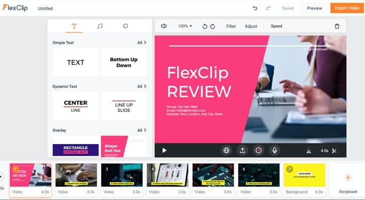 أداة FlexClip إنشاء فيديو بالصور والموسيقى اون لاين